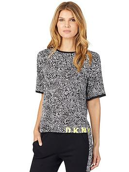 dkny-shadow-play-snake-print-t-shirt-black