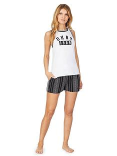 dkny-color-theory-logo-boxer-short-pyjama-set-black
