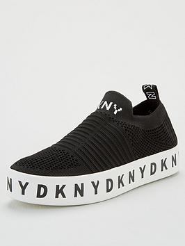 dkny-brea-logo-slip-on-platform-trainers-black
