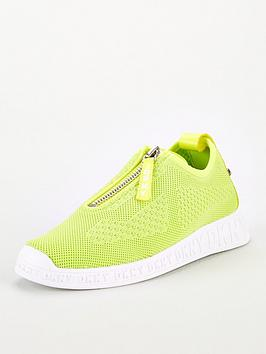 dkny-melissa-mesh-zip-detail-slip-on-trainers-lime-green