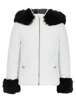 river-island-girls-padded-faux-fur-hooded-jacket-white