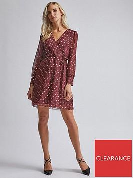 dorothy-perkins-dorothy-perkins-printed-wrap-mini-dress-red