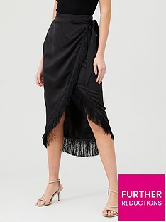 river-island-river-island-fringe-trim-wrap-skirt-black