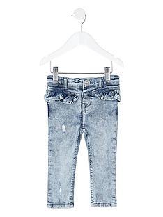 river-island-mini-girls-acid-wash-molly-frill-skinny-jeans-blue