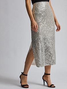 dorothy-perkins-dorothy-perkins-sequin-midi-skirt-silver