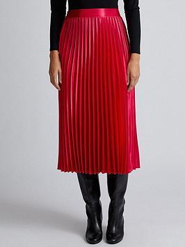 dorothy-perkins-dorothy-perkins-pink-satin-pleat-midi-skirt-pink