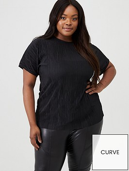 v-by-very-curve-grown-on-sleeve-plisse-slash-neck-top-black