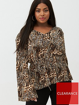 v-by-very-curve-long-sleeve-printed-plisse-top-animal-print