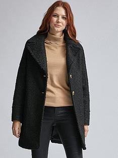 dorothy-perkins-boucle-one-button-coat-black