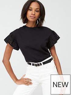 v-by-very-embroidered-short-sleeve-boxy-tee-black