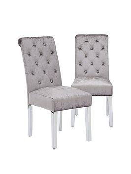 pair-of-crushed-velvet-scroll-back-dining-chairs