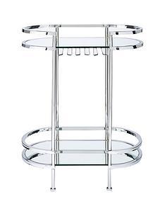 michelle-keegan-home-aruba-mirrored-drinks-trolley