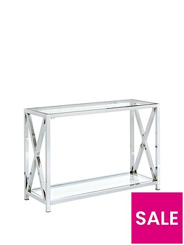 christie-glass-and-chrome-console-table