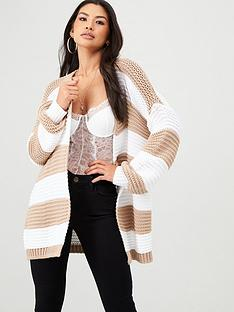 in-the-style-in-the-style-x-billie-faiers-horizontal-stripe-cardigan-stone