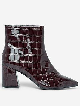 dorothy-perkins-anica-crocodile-ankle-boots-burgundy