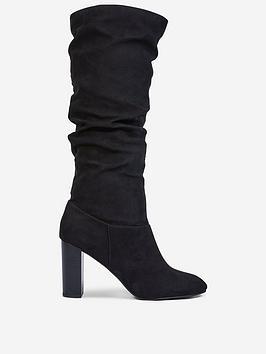 dorothy-perkins-dorothy-perkins-kiss-ruched-knee-high-boots-black