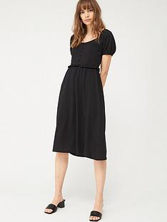 v-by-very-milkmaid-midi-dress-black