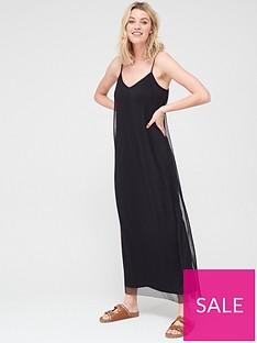 v-by-very-plisse-cami-maxi-dress-blacknbsp
