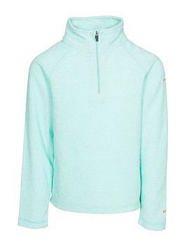 trespass-girls-meadow-12-zip-fleece-turquoise