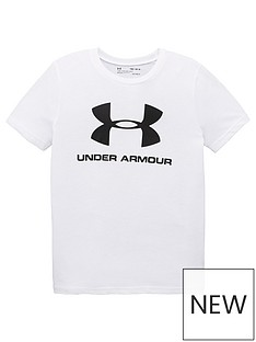 under-armour-childrens-sportstyle-logo-t-shirt-whiteblack