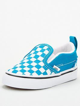 vans-slip-on-v-checkerboard-toddler-plimsolls-bluewhite