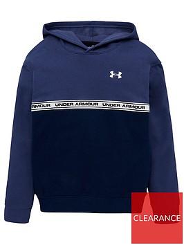 under-armour-sportstyle-fleece-hoodie-navy