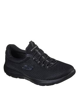 skechers-skechers-summits-mesh-bungee-slip-on-trainer