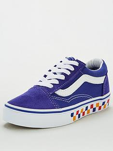 vans-childrens-old-skool-checkerboard-bluewhite