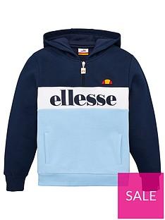 ellesse-older-boys-vincano-zip-hoodie-navy