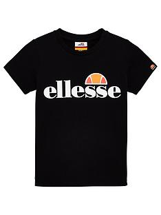 ellesse-younger-boys-malia-short-sleeve-t-shirt-black