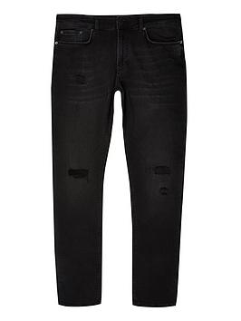 river-island-big-and-tall-black-wash-skinny-ripped-jeans