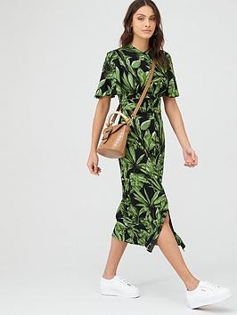 v-by-very-angel-sleeve-midaxi-shirt-dress-black-botanical