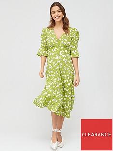 v-by-very-crepe-neck-button-through-midi-dress-print
