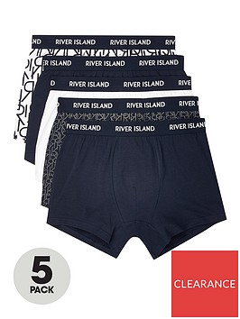 river-island-navy-ri-monogram-print-trunks-5-pack