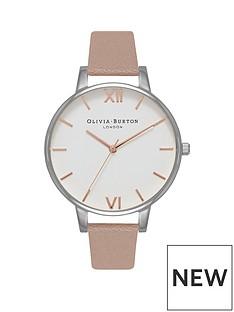 olivia-burton-olivia-burton-white-with-rose-gold-and-silver-detail-big-dial-vegan-nude-strap-ladies-watch