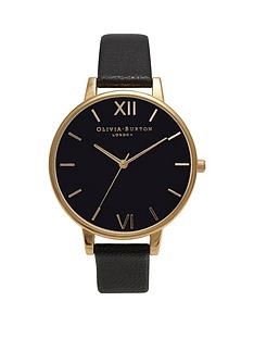 olivia-burton-olivia-burton-black-and-gold-detail-big-dial-black-leather-strap-ladies-watch
