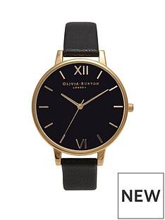 olivia-burton-olivia-burton-black-and-gold-detail-big-dial-black-leather-strap-ladies-watch