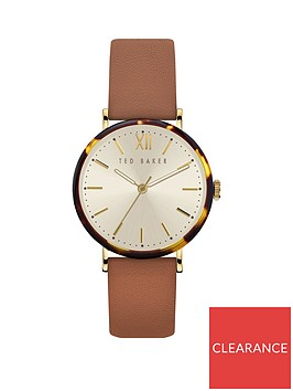 ted-baker-ted-baker-cream-and-tortoise-shell-dial-tan-leather-strap-ladies-watch