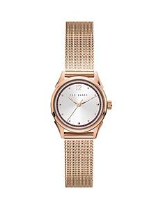 ted-baker-ted-baker-silver-sunray-and-pink-detail-dial-rose-gold-stainless-steel-mesh-strap-ladies-watch