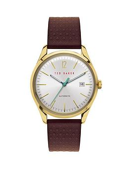 ted-baker-ted-baker-silver-sunray-and-gold-detail-automatic-dial-brown-leather-strap-watch