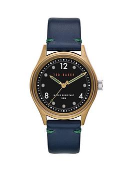 ted-baker-ted-baker-black-and-gold-case-dial-blue-leather-strap-watch