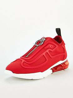 dkny-nilli-bubble-sole-zip-pull-on-trainers-red