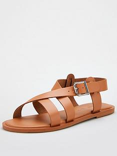 v-by-very-humbug-leather-strappy-sandal-tan