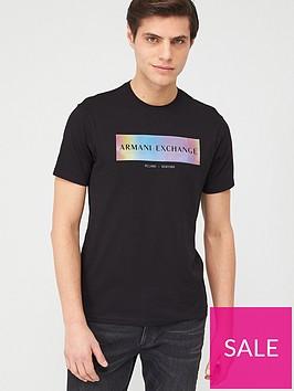 armani-exchange-holographic-panel-logo-t-shirt-black