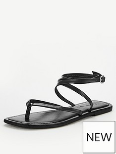 v-by-very-baker-leather-barely-there-flat-sandals-black