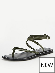 v-by-very-baker-leather-barely-there-flat-sandals-khaki