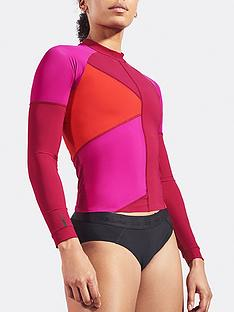 lndr-malibu-colourblock-rash-top-red