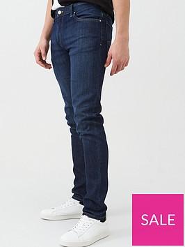 armani-exchange-j14-skinny-fit-rinse-wash-jeans-blue