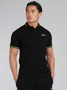 barbour-international-essential-tipped-polo-shirt-black
