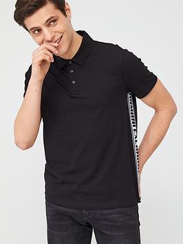 armani-exchange-taping-detail-polo-shirt-black